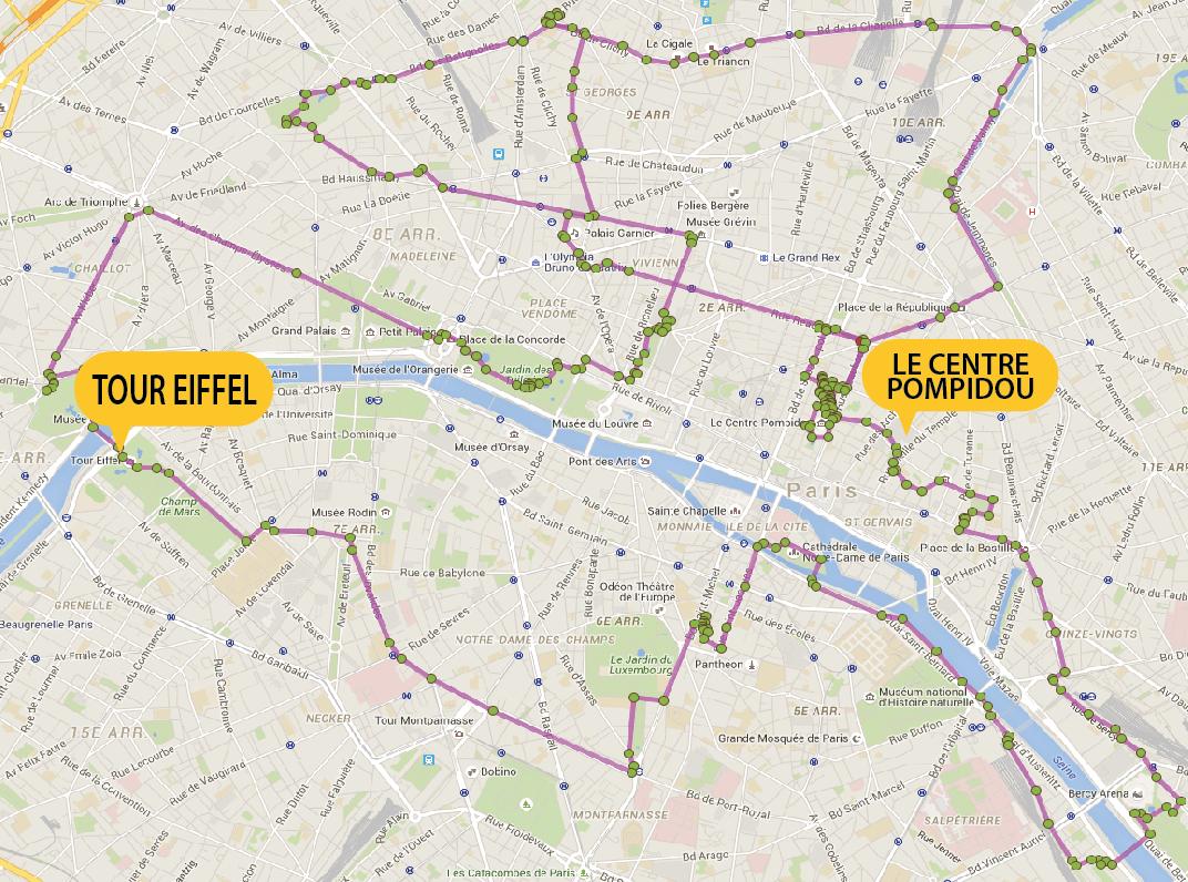 Busreis Parijs fietsvakantie