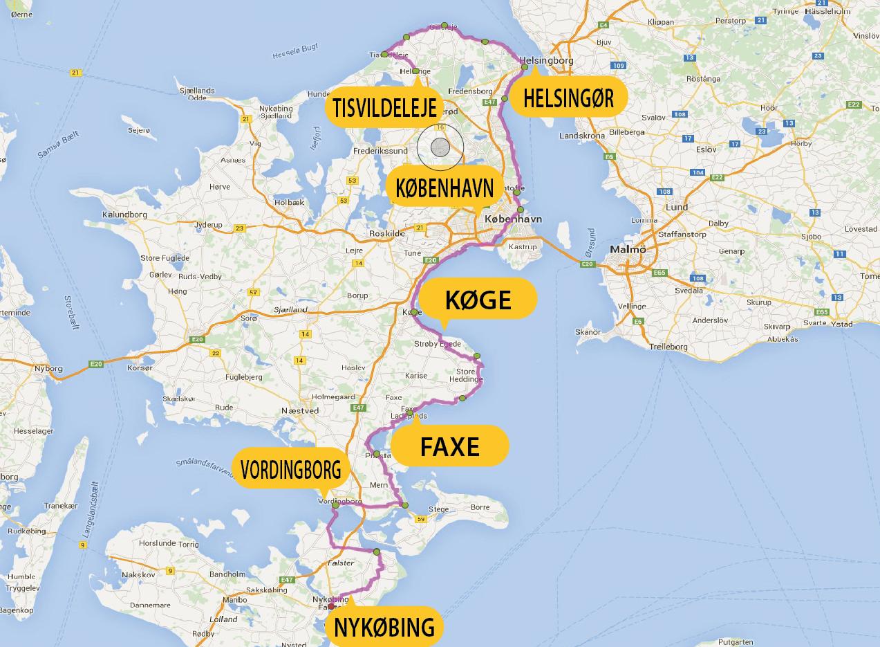 Busreis fietsvakantie Denemarken