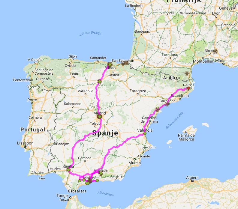 Busreis Andalusië rondreis