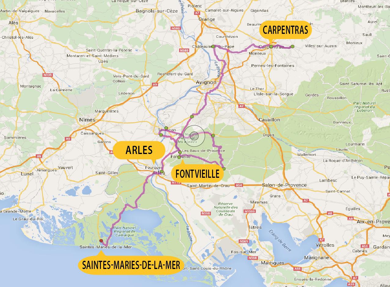 Busreis Fietsvakantie Provence Camargue