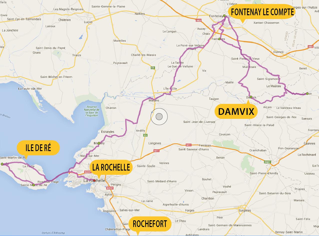 Busreis fietsvakantie Marais Poitevin & Île de Ré